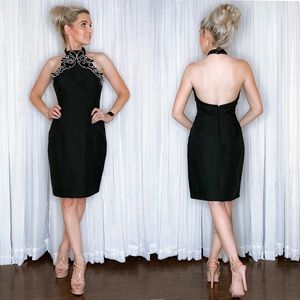 Black Chocker Cocktail Party Dress